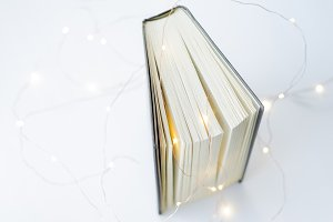 Magical Book on white