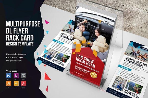 Rack Card DL Flyer Design V Flyer Templates Creative Market - Rack card design template