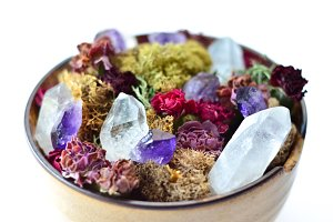 Dried Flowers and Crystals 2