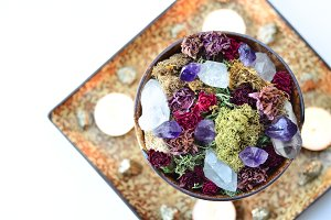 Dried Flowers and Crystals 3