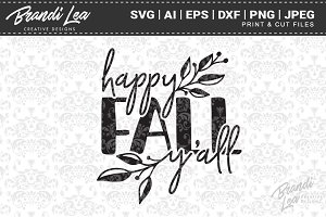 Happy Fall Yall SVG Cut Files