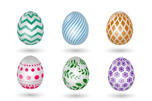 Happy easter eggs icons