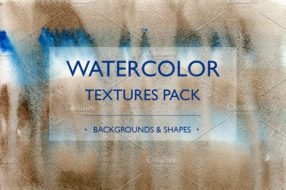 Watercolor Textures Shapes Pack