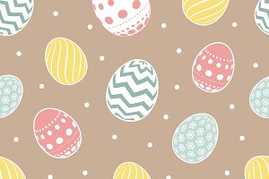 Flowers eggs easter background