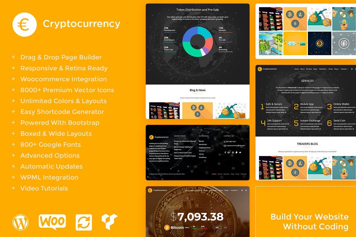 Cryptocurrency WordPress Theme