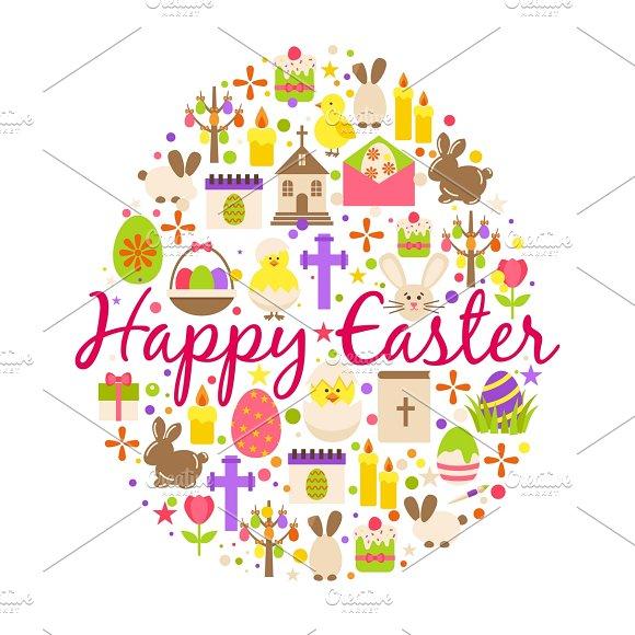 Happy Easter Cartoon Greeting Card