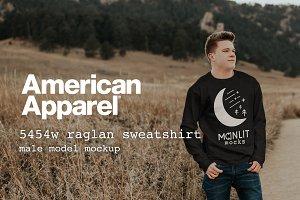 American Apparel 5454W Model Mockup