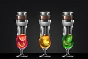 Set of cocktail hookah