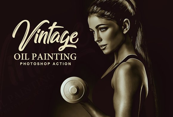Vintage Oil Painting PS Action