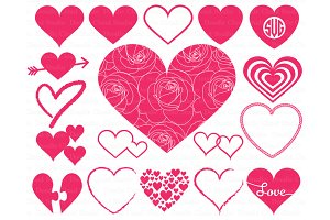 Heart svg, Heart Monogram SVG files