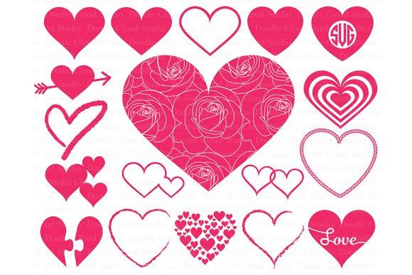 Heart Svg Heart Monogram SVG Files