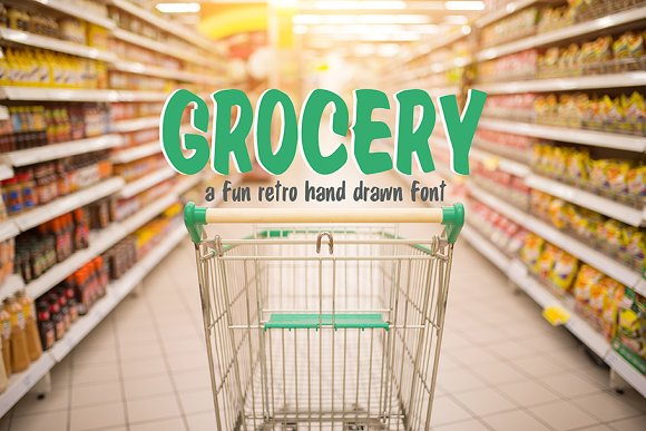 Grocery Hand Drawn Font