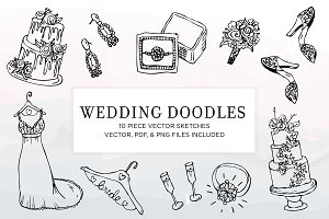 Hand Sketched Vectors - Wedding