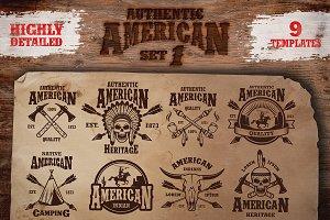 Set of american indian emblems.