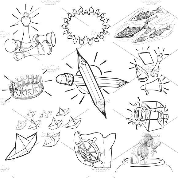 Illustration Set Of Leadership