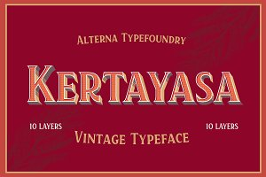 Kertayasa Layered Typeface 20% INTRO