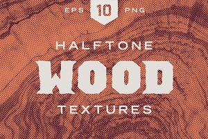 Wood Halftone Textures