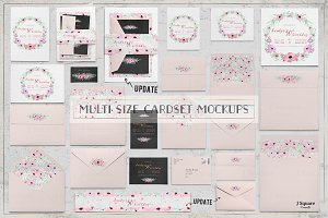 Multi Size Card Set Mock Ups