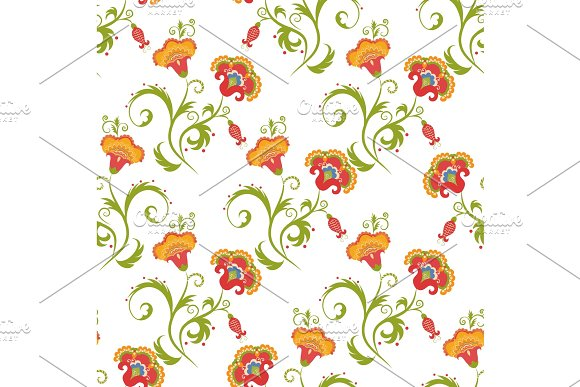 Traditional Asian Seamless Vector Pattern