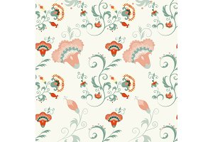 Traditional Asian seamless detailed vector pattern