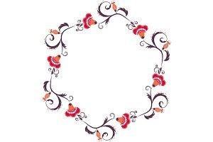 Floral wreath. Flower border frame