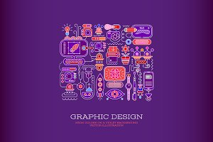 Graphic Design vector illustration