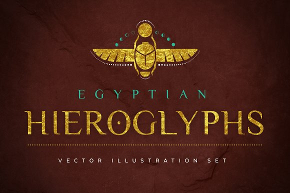 Egyptian Hieroglyphs Vector Set