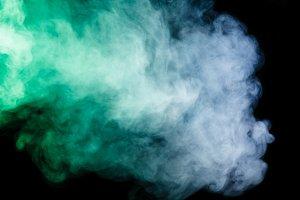 Abstract blue-green smoke hookah