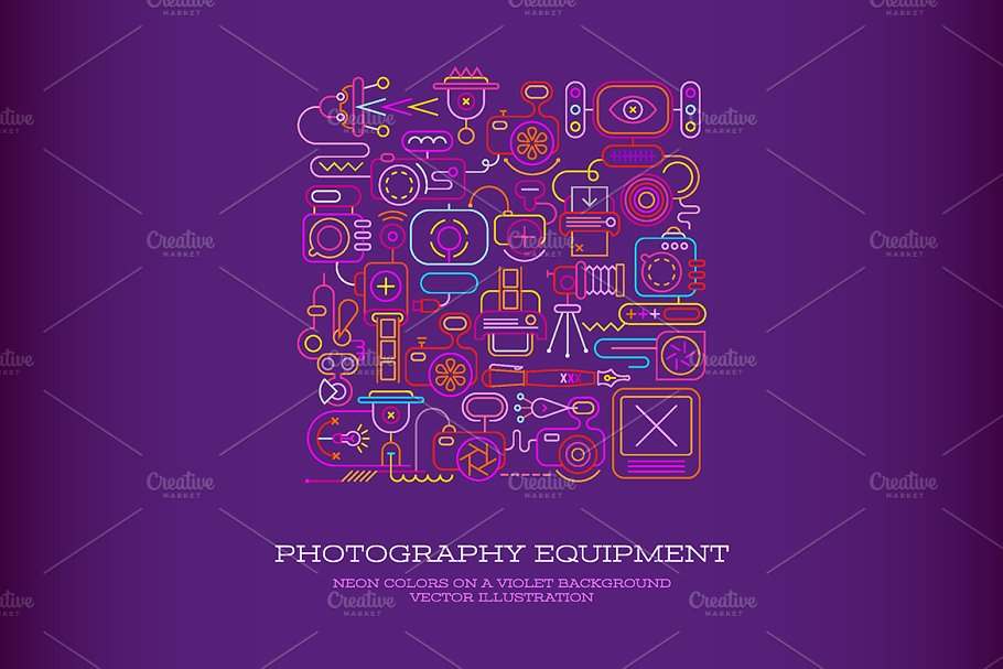 Photography Equipment vector artwork