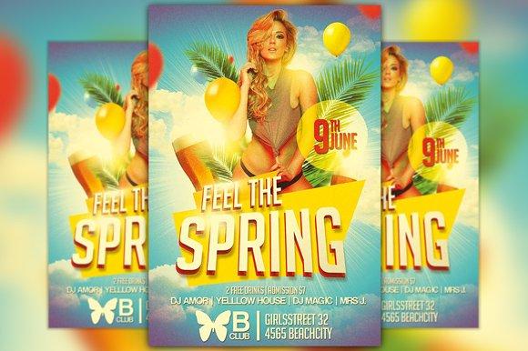 Feel The Spring Flyer Template Flyer Templates Creative Market