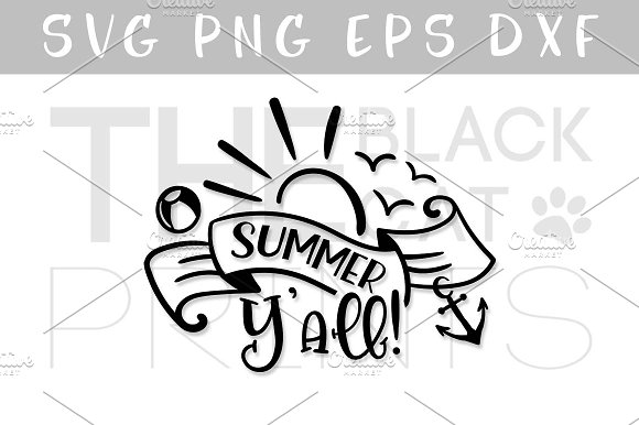 Summer Yall! SVG DXF PNF EPS in Illustrations - product preview 1