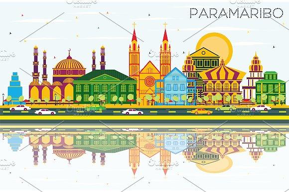 Paramaribo Suriname City Skyline