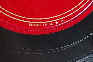 USA made vinyl record