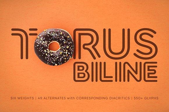 Torus Biline 6 Font Family