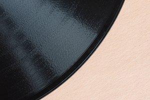 vinyl record detail