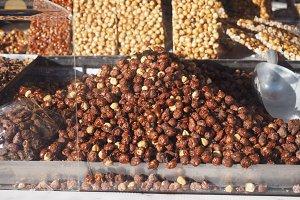 roasted hazelnuts food