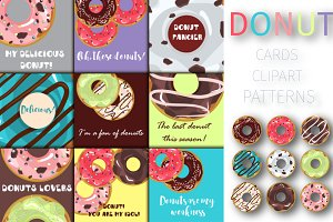 Donut collection vector
