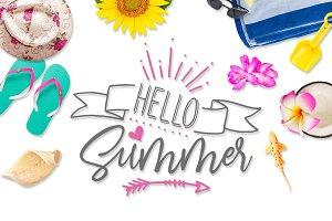 Hello Summer SVG DXF PNG EPS