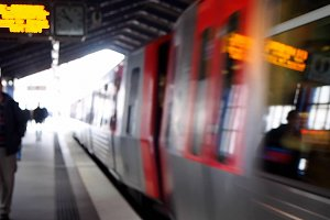 subway station blur background