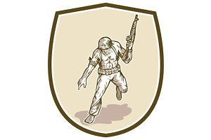 American Soldier Serviceman Armalite