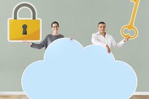 Cloud security concept