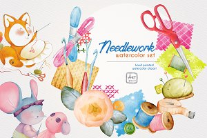 Needlework watercolor set