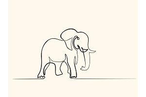 Elephant walking symbol
