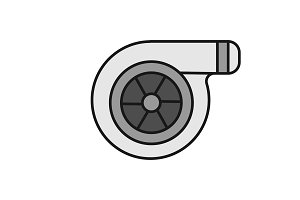 Turbocharger color icon