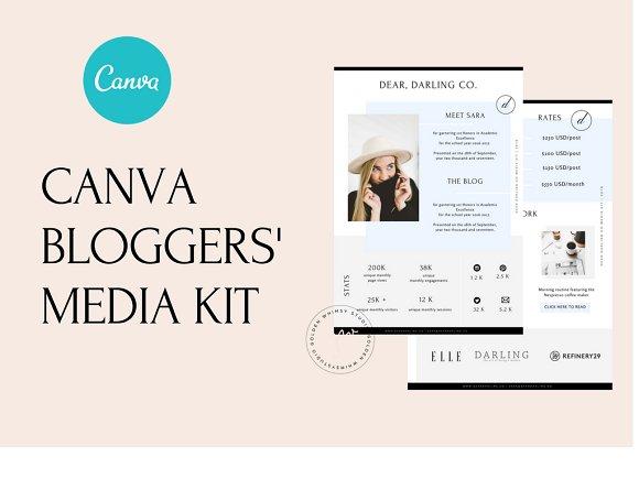 CANVA Media Kit For Bloggers