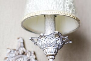 Vintage chandelier. An antique lamp
