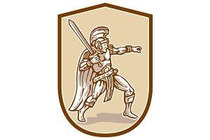 Centurion Roman Soldier Wielding Swo