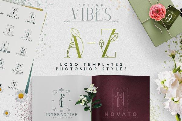 Logo Templates: Vladfedotovv - [Spring Vibes] A-Z logo designs -50%
