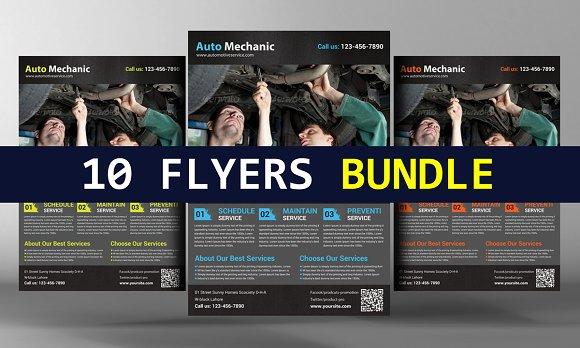 10 Multipurpose Flyers Bundle