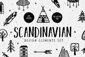 Scandinavian Design Elements Set